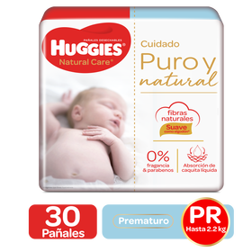Pañales Huggies Natural Care Prematuro - 30uds