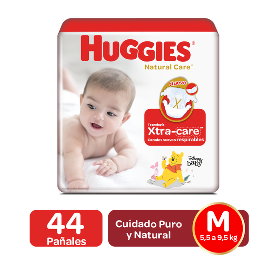 Pañales Huggies Natural Care Talla M - 44uds