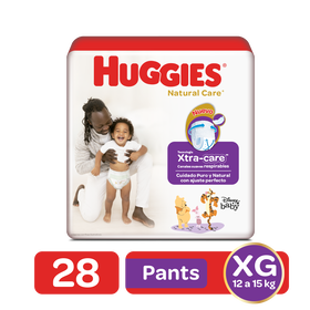 Pants Huggies Natural Care Talla XG - 28uds
