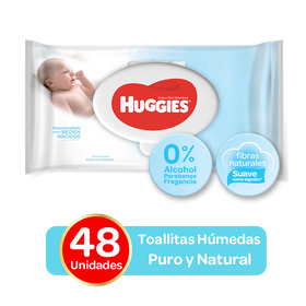 Toallitas Húmedas Huggies Puro & Natural - 48 uds