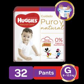Pants Huggies Natural Care Talla G - 32uds