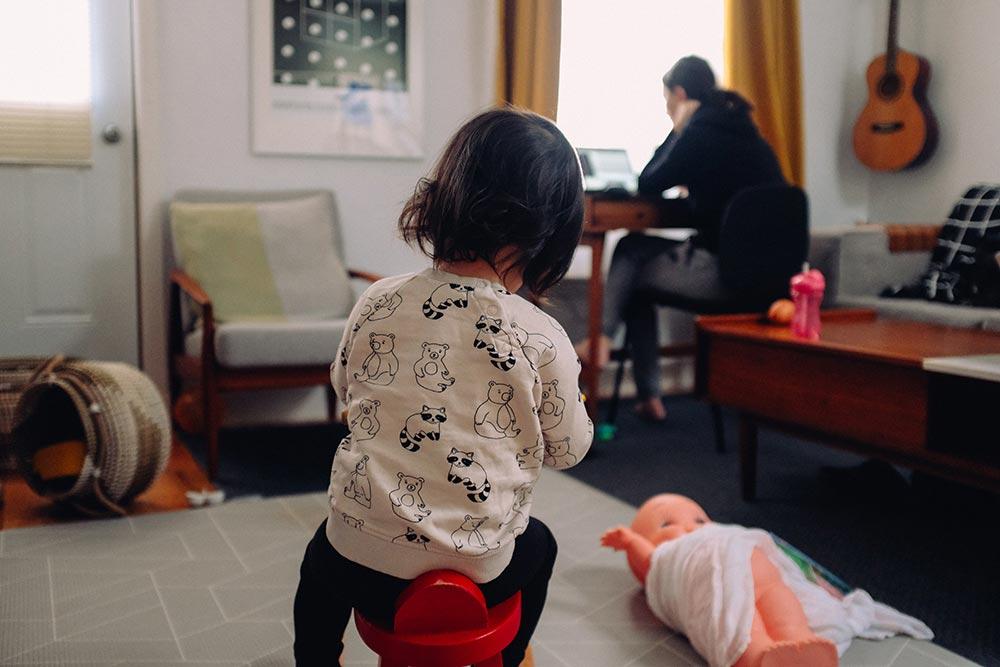 Hacer home office con un bebé